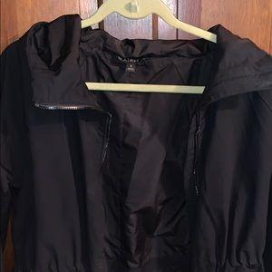 ATHLETA rain jacket with a hood.